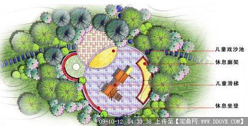小区儿童乐园绿化图
