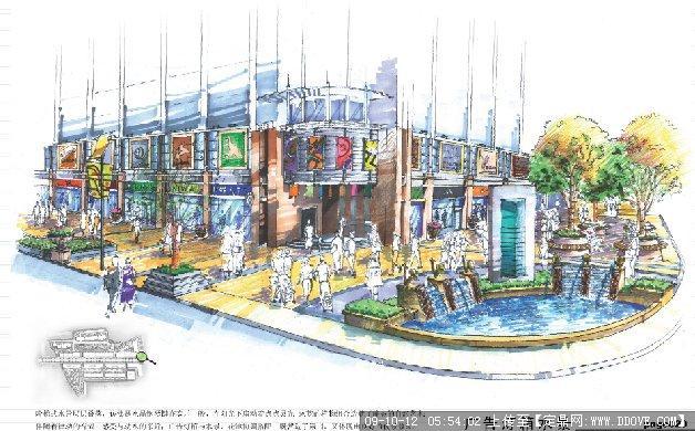 某中心小区广告灯箱图纸图纸()什么LT代表上水景建筑图片
