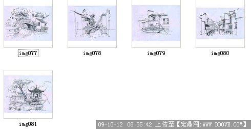丽江古镇手绘图