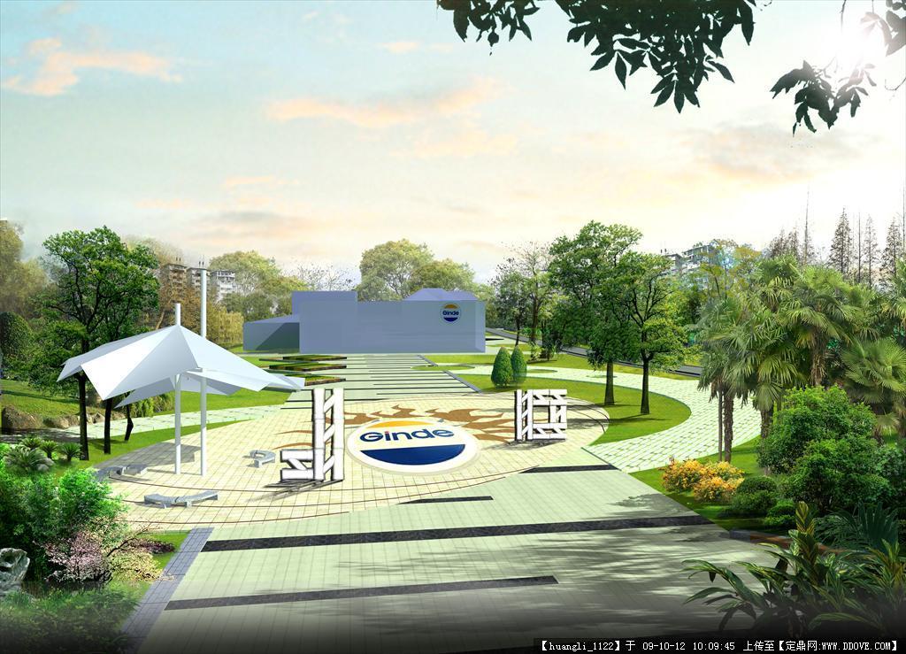 定鼎网 定鼎园林 园林设计说明 街头绿地 园林小品设计 设计说明 效果