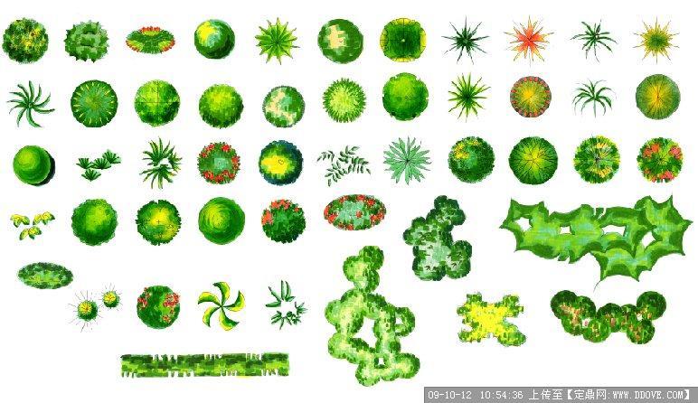 室内植物平面图例