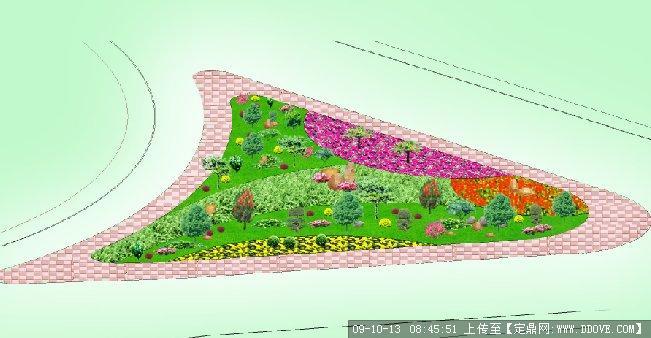 交通三角岛景观设计