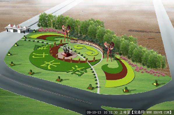 su景观墙_高速路口景观设计