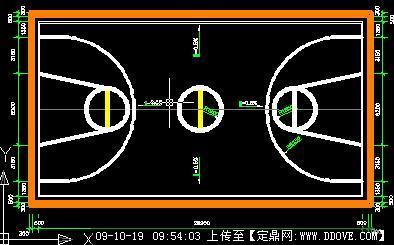 篮球场cad施工图纸