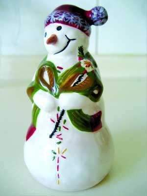 可爱小雪人和房子简笔画