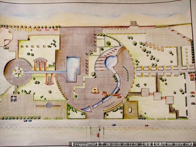 广场景观设计方案平面图