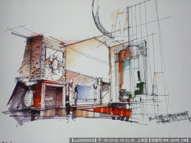 杨建室内手绘方案经典2