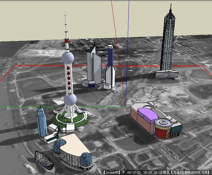 上海外滩建筑sketchup模型
