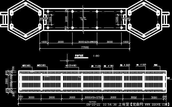 套亭回廊cad平面图