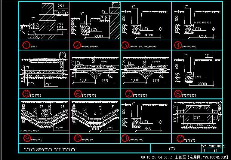 电缆敷设图
