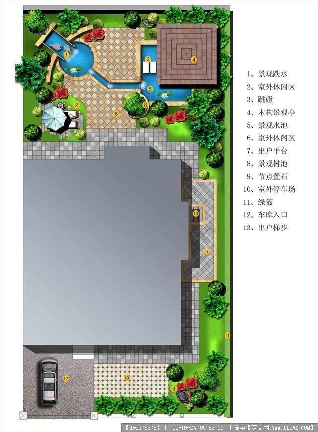 别墅庭院设计平面效果图