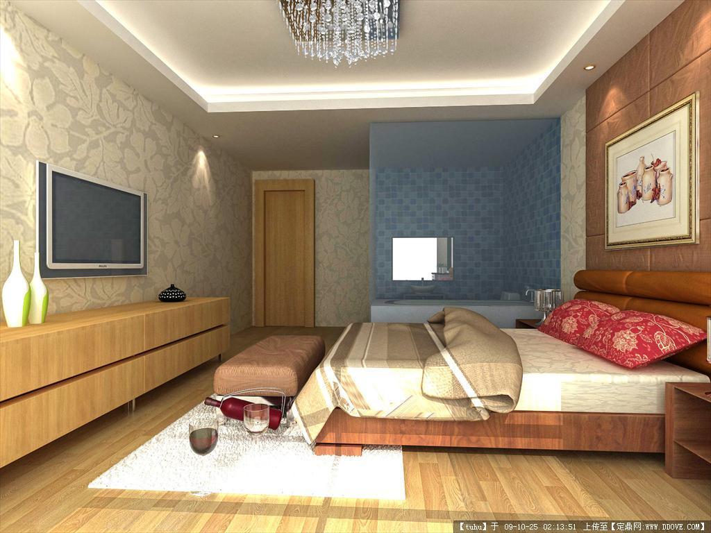 卧室室内装修方案效果图 高清图片