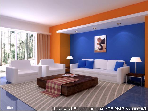 客厅室内装修最终方案效果图+3dmax模型图片