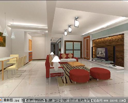 客厅室内装修效果图+3dmax模型