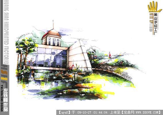 建筑学院教师马克笔手绘表现