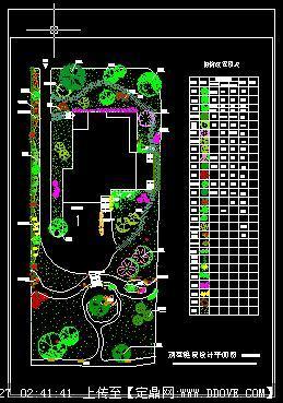 某别墅庭院设计cad总平面图
