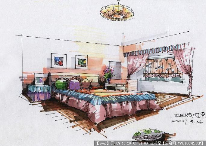 室内设计手绘效果图高清图片