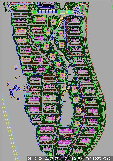 小区景观绿化方案cad总平面图的下载地址,园林方案,区