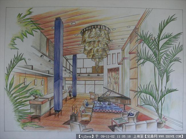 马克彩铅快速手绘表现的图片浏览,建筑效 果图,其他图