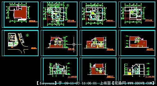 别墅建筑设计方案施工图
