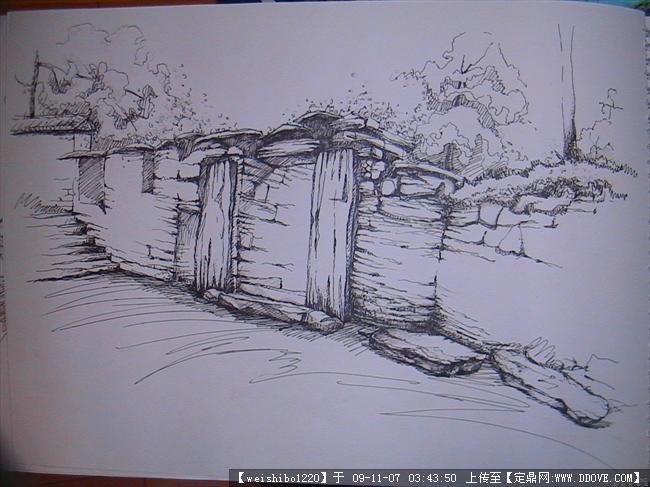 多种多样的钢笔画集的图片浏览,园林效 果图,手绘效果