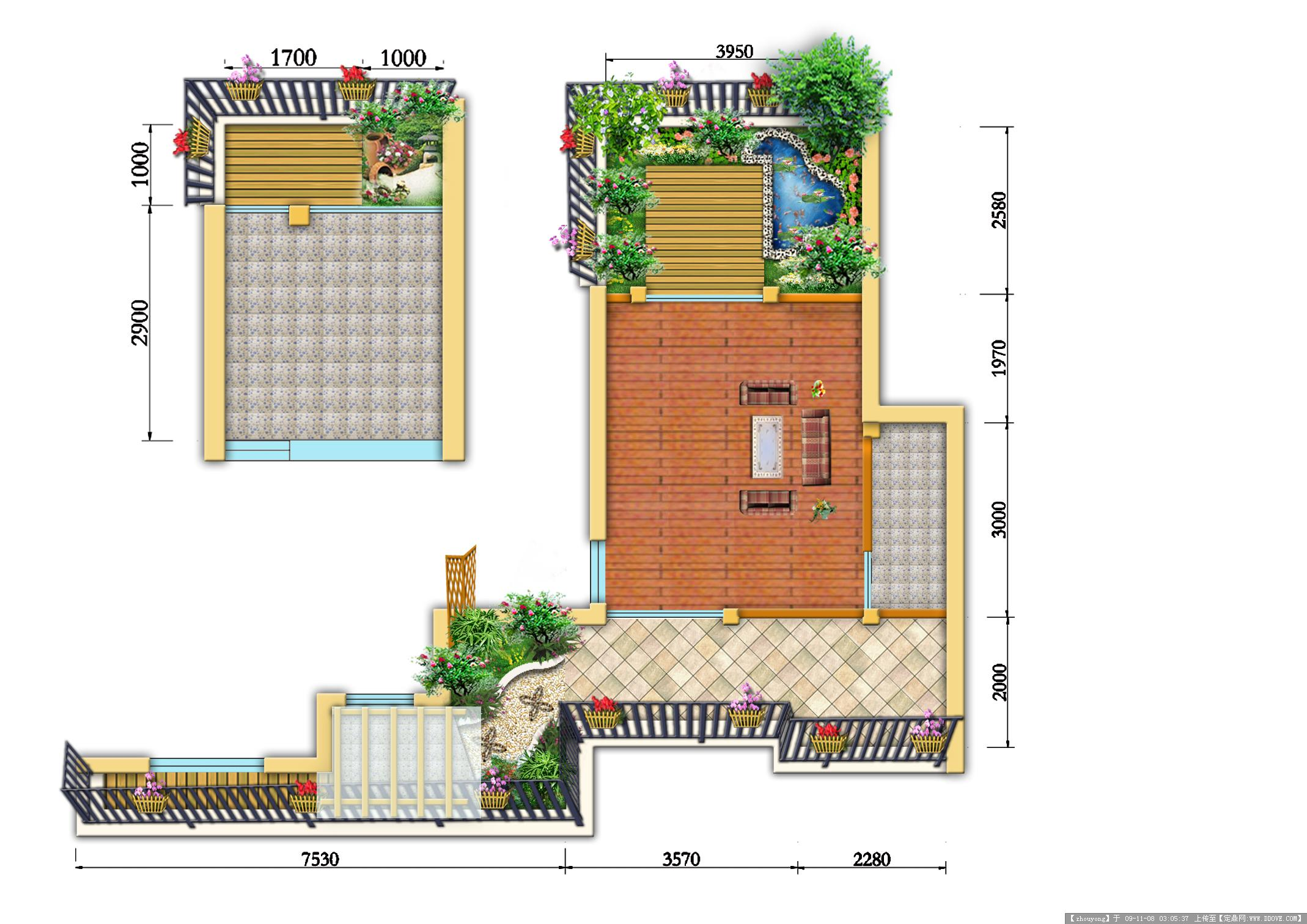 屋顶花园方案效果图