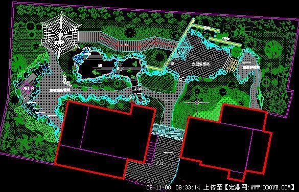 简约中式庭院景观方案cad施工图全套的下载地址