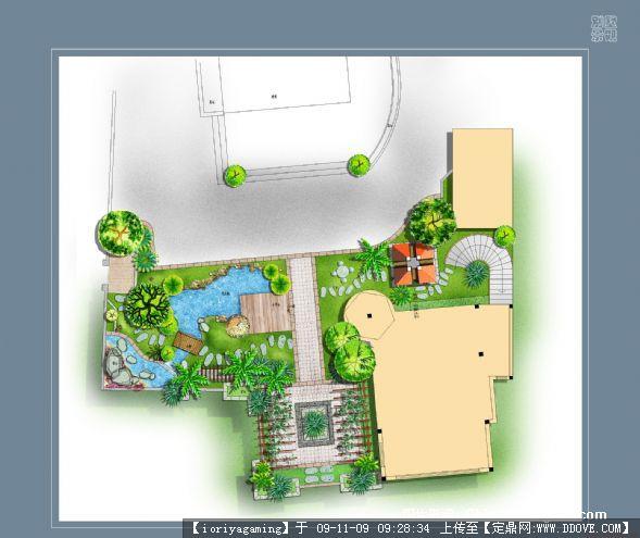 屋顶花园景观方案sketchup模型