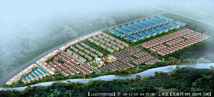 新农村建设规划鸟瞰图
