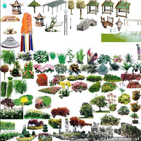 平面树素材彩图