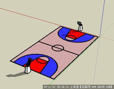 sketchup素材 篮球场