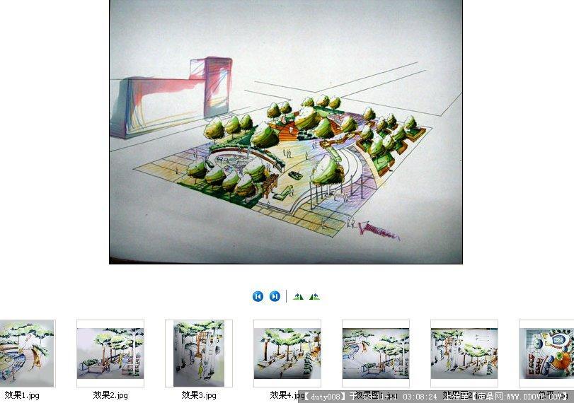 小游园广场景观快题设计