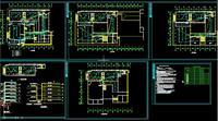 设计图 电气/图书馆消防设计图...