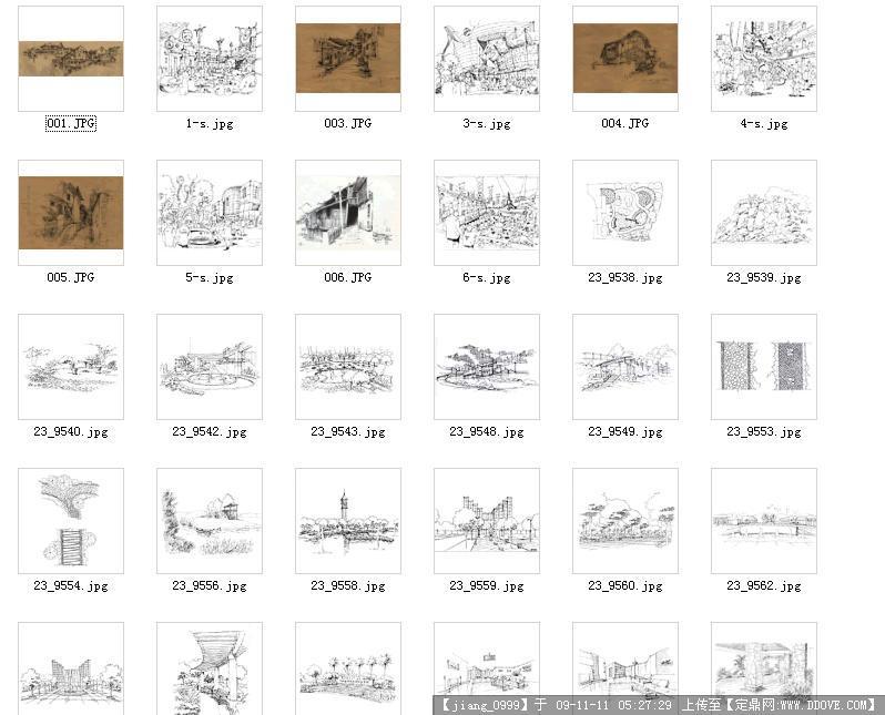铅笔手绘图113张打包下载