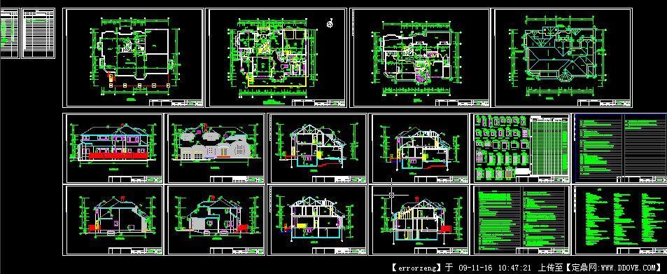 上海某别墅木结构图纸别墅v别墅图纸室外全套cad轻型下载图片