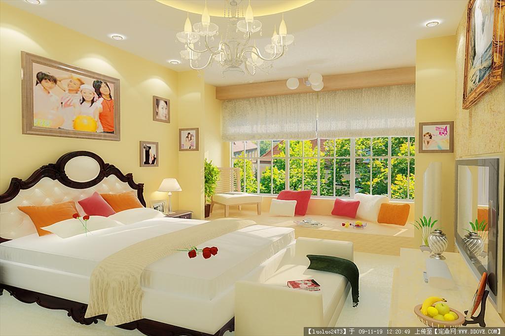 卧室室内装饰3d模型+效果图一