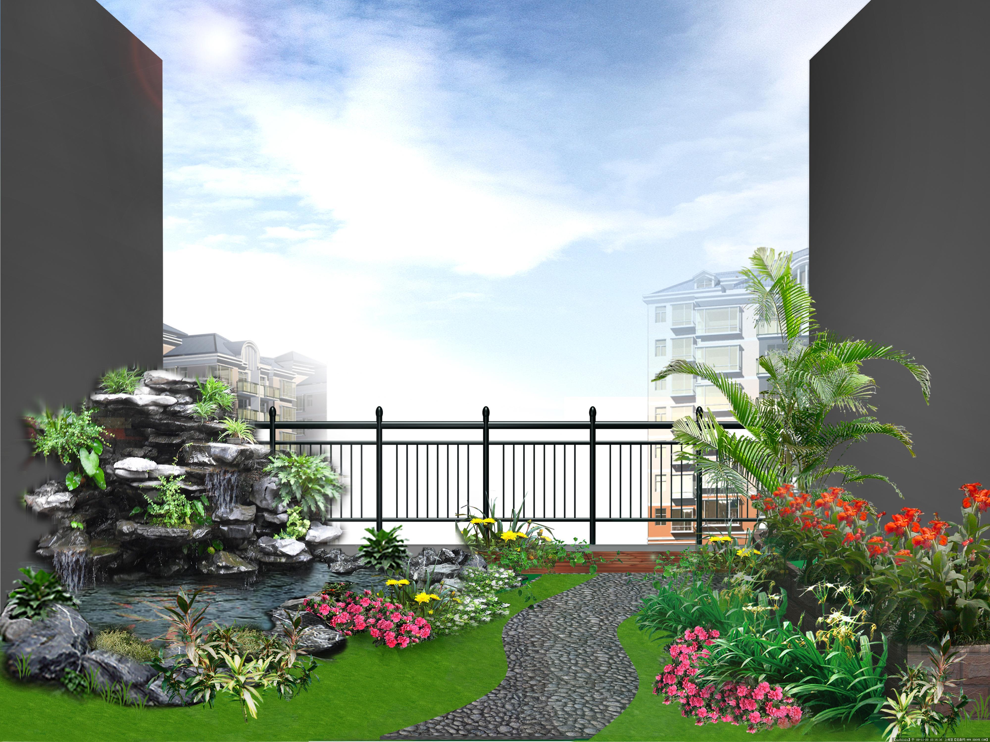 小阳台景观设计效果图一张