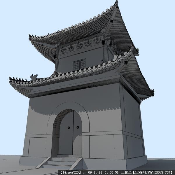3dmax古建筑渲染作品