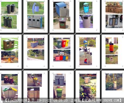 各式垃圾桶小品图片