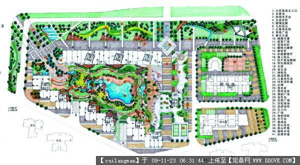 小区景观方案手绘图的图片浏览,园林方案设计,居 区,园林景观设计施工图纸资料下载