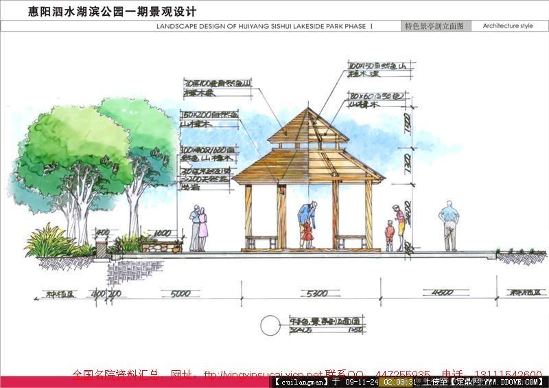 公园规划设计景观手绘效果图