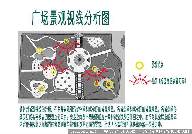 黄河广场景观方案的效果图及cad平面图