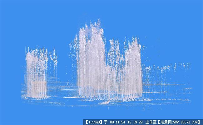 喷泉后期效果图psd素材的下载地址,配景素材,景观小品,园林建筑装饰