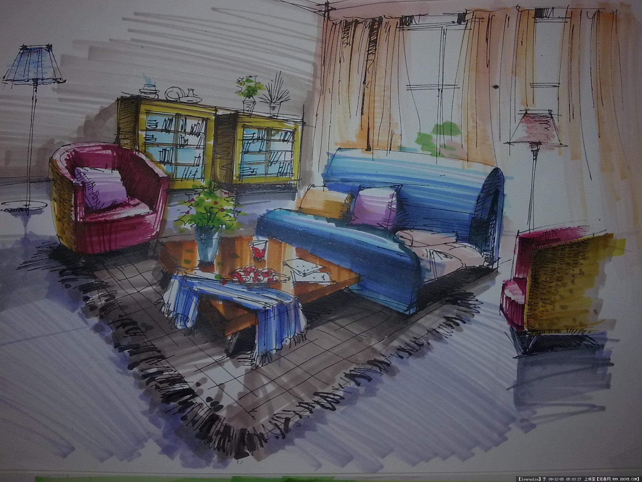 室内家具单品手绘合集