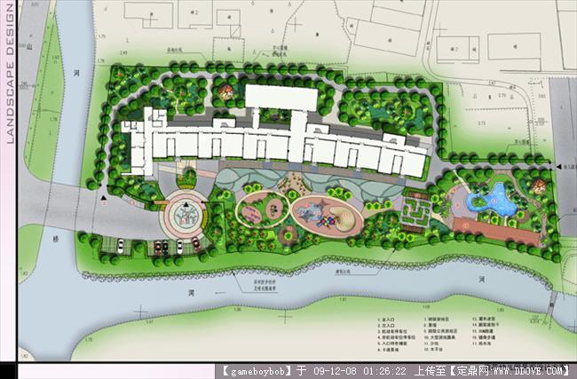 幼儿园景观平面效果的图片浏览,园林方案设计,商业,.
