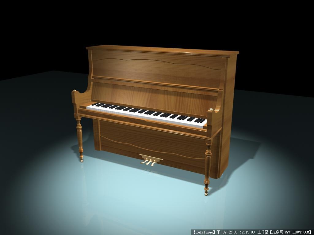 钢琴3dmax模型 piano 3dmax mo 高清图片