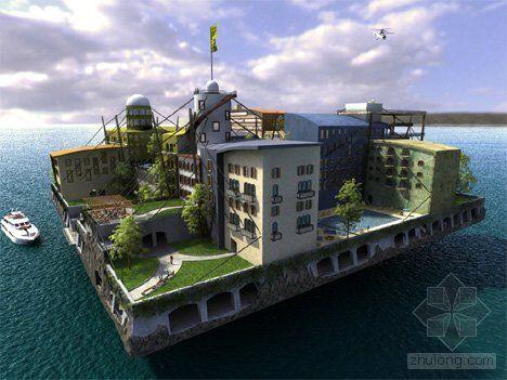 12个未来派水下建筑设计:迪拜海底酒店上榜