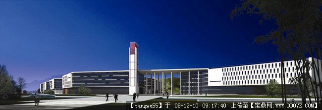 现代学校校园建筑效果图