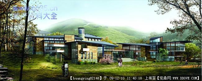 会所建筑景观设计方案效果图全套资料