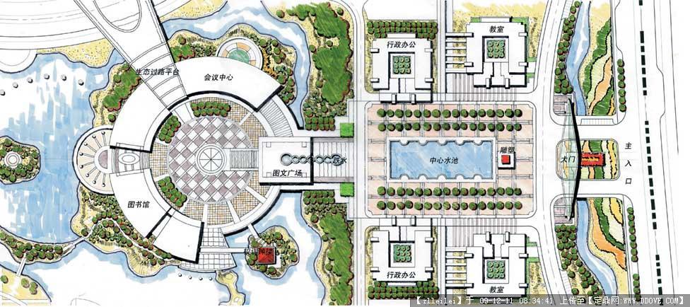 校园景观规划方案全套图纸的图片浏览,园林效 果图,,.